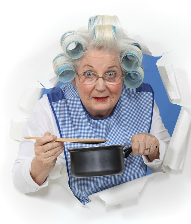 People Pleasing Grandma with Pot of Soup
