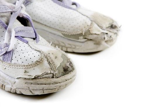 Worn out sneakers is like people pleasing