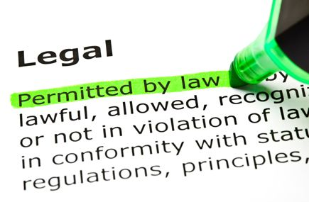legal issues permitted by law