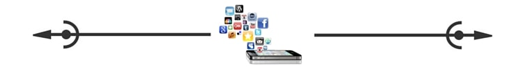 Cell phone social media spacer Savvy Cleaner