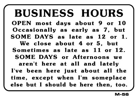 Spoof business hours