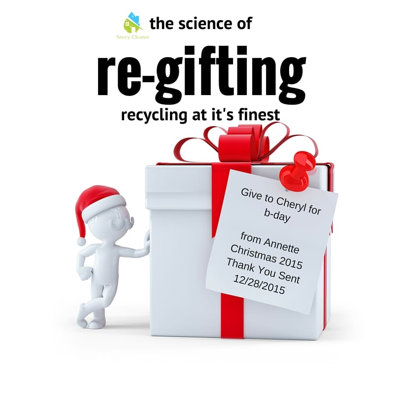 recycle, return or regift chrusemas gifts