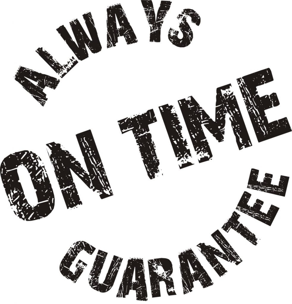Youve gotta be on time savvycleaner ask a house cleaner savvycleaner always on time guarantee thecheapjerseys Images