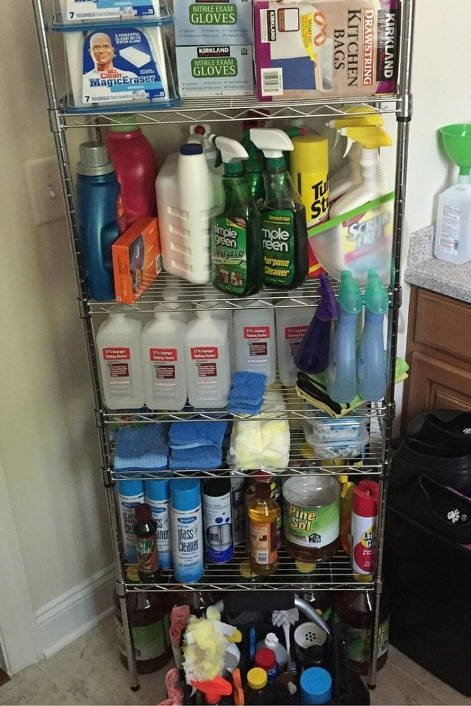 Savvycleaner Cleaning Supplies Shelf