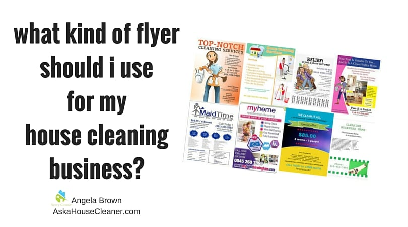 SavvyCleaner.com_what kind of flyer should I use for my cleaning business