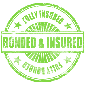 Savvy Cleaner credentials for being bonded and insured