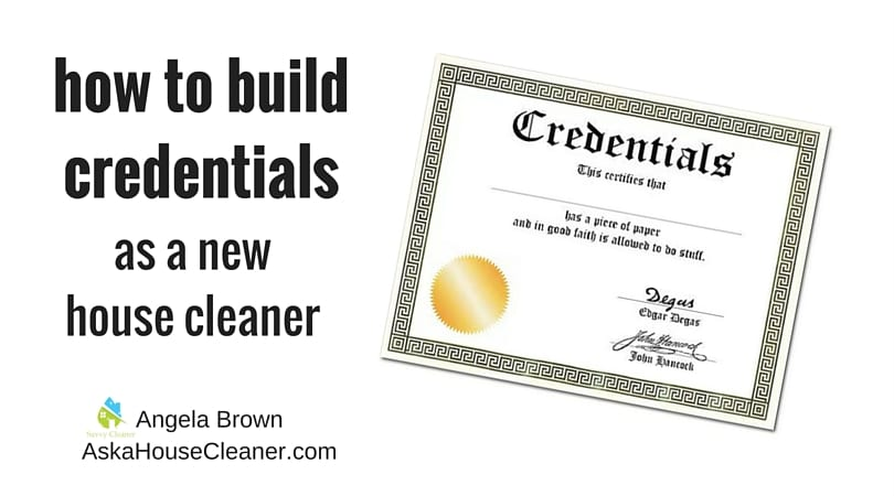 Credentials for house cleaners savvycleaner ask a house for How to build my house
