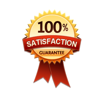 satisfaction guarantee red foil seal