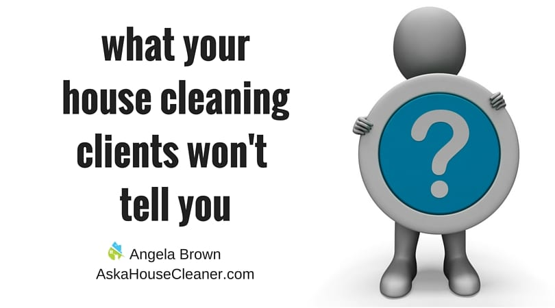 house cleaner with a question ask a house cleaner