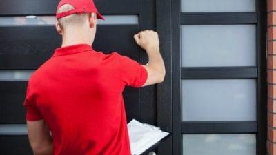 Imagine Man Knocking on Door