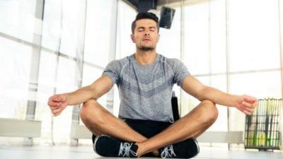 Imagine man meditating