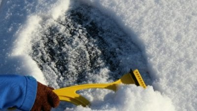 Imagine scraping ice off car window