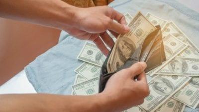 Imagine wallet full of cash