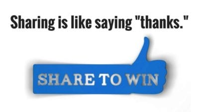 Sharing is like saying thanks thumbs up, Savvy Cleaner