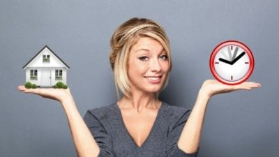 woman choosing price for house cleaning job vs hourly rate