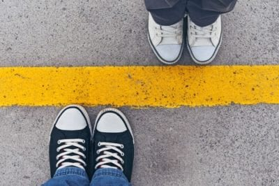 boundaries, shoes on line