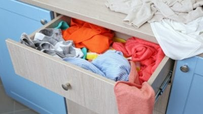 pick up clothes before cleaning lady comes