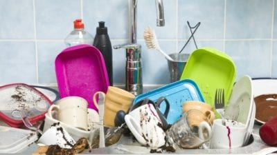 wash your dishes before cleaning lady comes