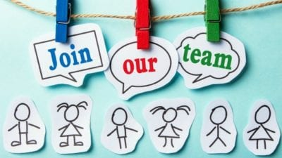 Join Our Team Sign with no excuses