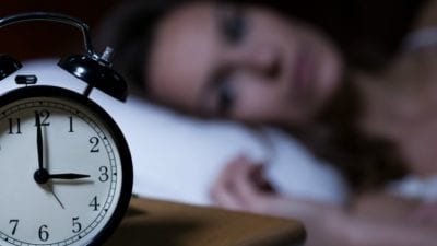 Lack of sleep contributes to burnout, woman awake at 3-00am