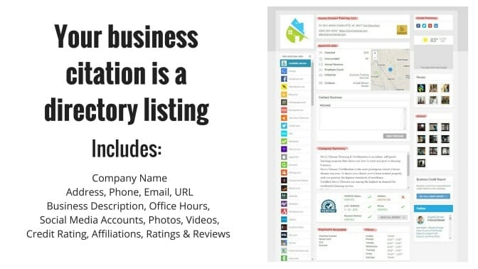 business citation, company ratings and reviews