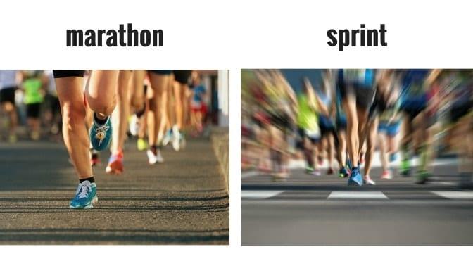marathon vs. sprint pace yourself to avoid burnout