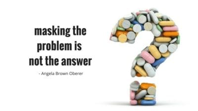 masking the problem is not the answer - bad reviews, Angela Brown Oberer