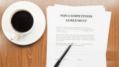 non compete when employee leaves