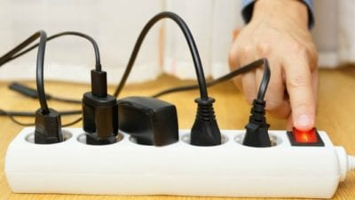 power strip, electricity needed for a move out clean