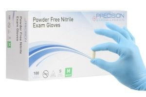 Box of 100 count disposable nitrile gloves