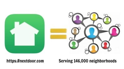 Nextdoor app equals word of mouth advertising via referrals