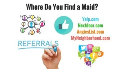 Places where you go to hire a maid