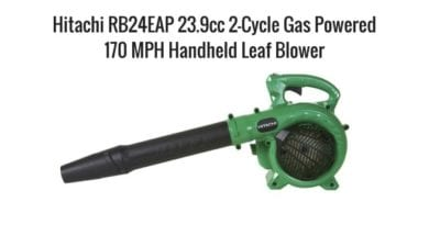 Yardwork, Upsell with blowing off patios and sun rooms, Hitachi Gas Powered Blower in Green