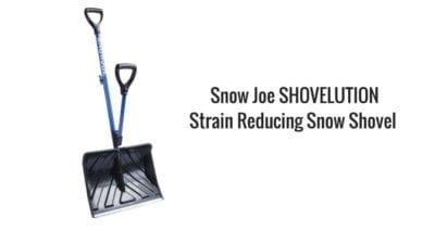 Yardwork, upselling with snow shoveling, Snow Joe Shovelution Strain Reducing Snow Shovel