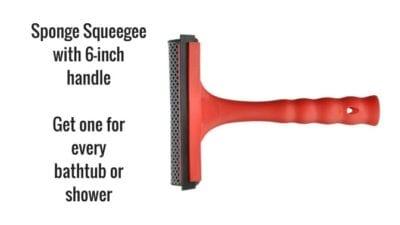 sponge squeegee for shower doors and shower floor