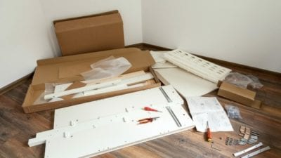 Handyman jobs house cleaners can do - assembling furniture from IKEA