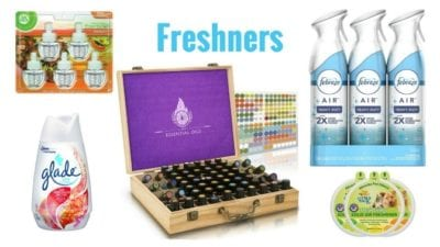 Air fresheners, odor eliminator