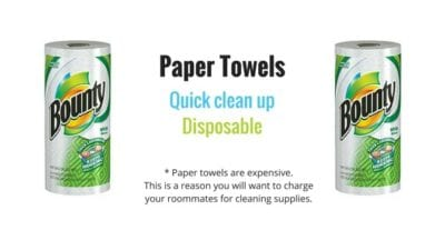 Charming Dorm Room Cleaning Supplies   Paper Towels Part 22