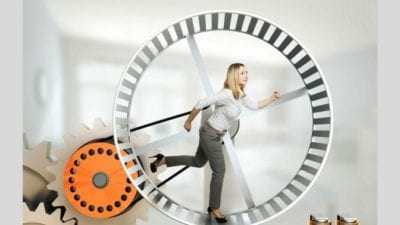 Fired my House Cleaner, woman on a hamster wheel