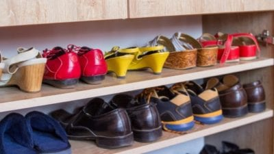 Celebrity Hoarders shoes in the closet