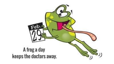 grief hoarding frog calendar