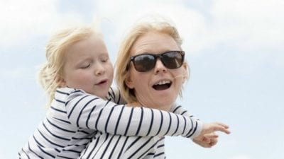 grief hoarding mom takes daughter on piggy back ride
