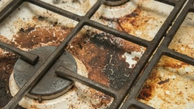 its not that bad - burned gross gas stove