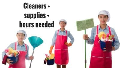 its not that bad - how many house cleaners will it take