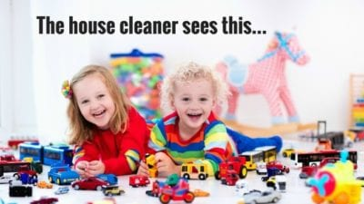 its not that bad, your house cleaner sees this
