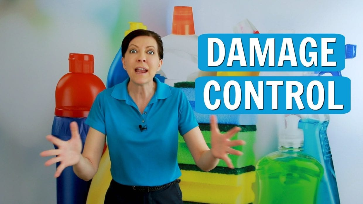 Ask a House Cleaner, Damage Control, Savvy Cleaner