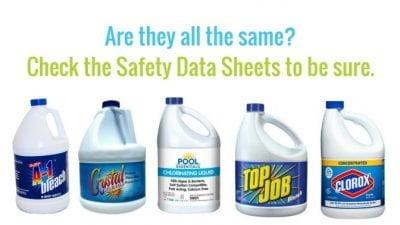 Are all Clorox brands the same, check Safety Data Sheets SDS