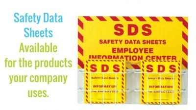Safety Data Sheets SDS available to employees