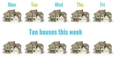 the pain of a client firing you - 10 houses this week