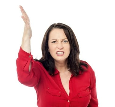 the pain of a client firing you - angry woman yelling